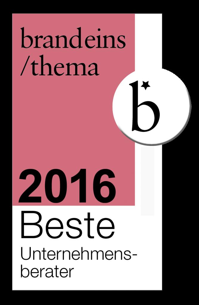 brandeins / beste Unternehmensberater 2016 - VOCATUS Preisstrategie, Vertriebsoptimierung, Behavioral Economics