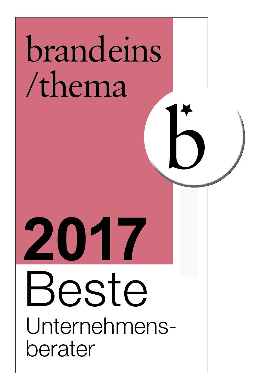 brandeins / beste Unternehmensberater 2017 - VOCATUS Preisstrategie, Vertriebsoptimierung, Behavioral Economics