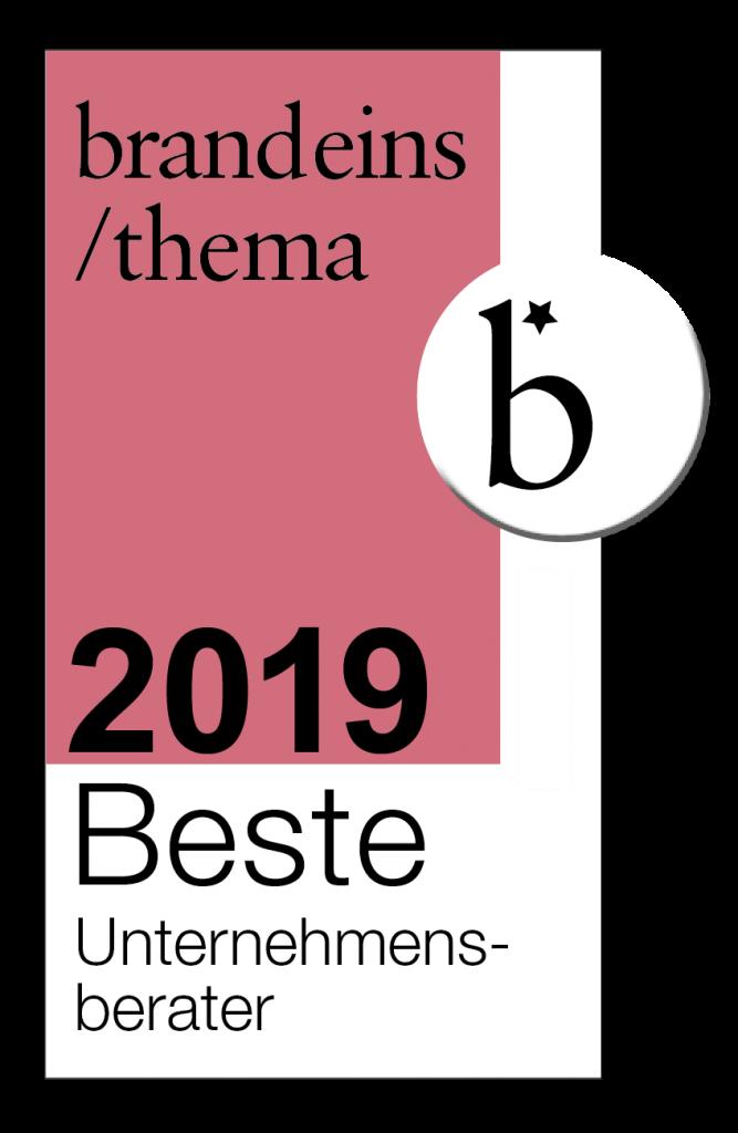 brandeins / beste Unternehmensberater 2019 - VOCATUS Preisstrategie, Vertriebsoptimierung, Behavioral Economics