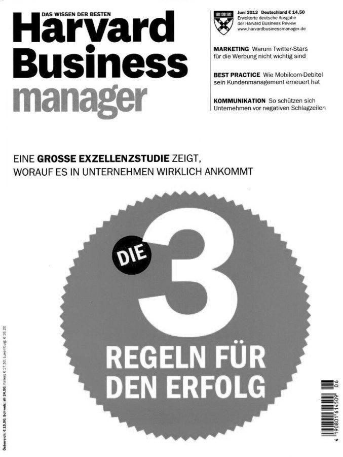Harvard Business Manager - 3 Regeln für den Erfolg - Vocatus Pricing & Selling
