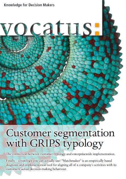 Vocatus - Knowledge for Decision Makers - Customer segmentation with GRIPS typology