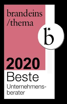 brandeins / beste Unternehmensberater 2020 - VOCATUS Preisstrategie, Vertriebsoptimierung, Behavioral Economics