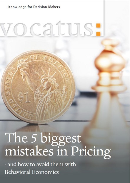 Cover Knowledge for decision-makers - Praxisratgeber Preisgestaltung - Cover Pricing strategy consulting: the five biggest mistakes in Pricing