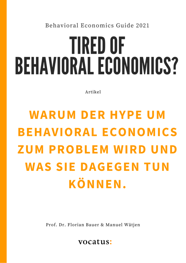 Cover Tired of Behavioral Economics?